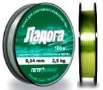 Леска Ладога зелен.0,12мм,1,5кг,100м 100-12