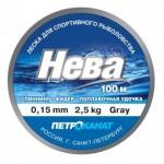 Леска Нева серебр.0,16мм,2,5кг,100м 100-16