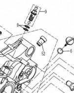 Клапан антидренажный маслянной системы