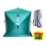 Палатка зимняя куб 1,8х1,8 (3зеленый/2серый) Helio