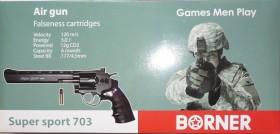 Револьвер пневматический Borner Supersport 703 кал.4,5