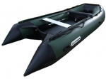 Лодка Golfstream MS 385 (Зелено-черная), ПВХ