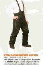 SPECIAL RACING HIGHPANTS XXL SYMPATEX