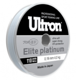 Леска ULTRON Elite Platinum 0,16 мм, 100 м, 3,1кг,серебо